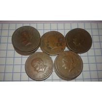 Monedas 5 Centavos 1944, 1946, 1951, 1953, 1954 Josefa