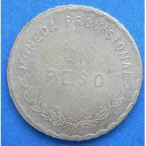 Moneda Mexico Revolucion 1 Peso Oaxaca 1915 Plata Excent