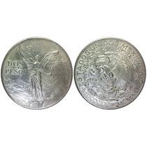Ganga Moneda 2 Pesos Del Angel Fecha 1921 Plata Muy Escasa