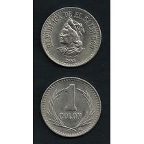 Grr-moneda El Salvador 1 Colón 1984-1985, Acuñada En México!