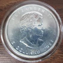 Moneda 2011 Maple Leaf De Canada 1oz Troy Plata Pura .9999