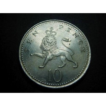 Inglaterra 10 Pence Fecha 1996 Niquel 24mm