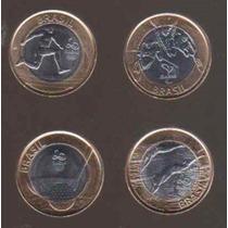 Coleccion De 4 Monedas De Las Olimpiadas De Rio 2016 (brasil