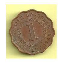 Moneda Honduras Britanica 1 Cent (1968) Reina Ell