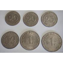 Paquete De Monedas De 20, 25, 50 Centavos Y $1 Bolivianos