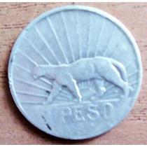 1 Peso 1942 Plata Uruguay Moneda Jose Gervasio Artigas - Hm4