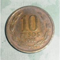 Lote 116 Republica De Chile 10 Pesos 1981 Libertad S O