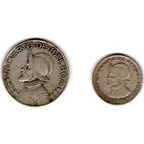 Paquete 2 Monedas. Un Cuarto De Balboa 1962, Y Un Décimo