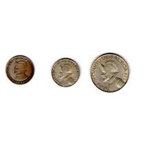 Paquete 3 Monedas. Un Cuarto De Balboa 1962, Y Un Décimo