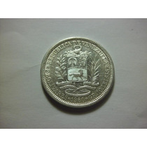 Venezuela 2 Bolivares Fecha 1960 Plata Ley 0.835 10g 27mm
