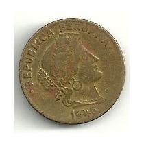 Moneda Peru 10 Centavos (1946) Libertad Omm