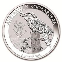 Australia 2016 Kookaburra 1 Onza Plata Pura .999 Con Cápsula