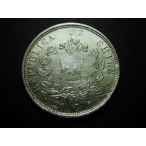 Republica De Chile 20 Centavos Plata 1861 23mm
