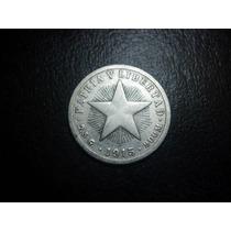 Cuba 10 Centavos 1915 Plata Ley 0.900 20mm