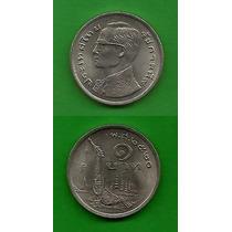 Grr-moneda De Tailandia 1 Baht 1977 - Barco Real