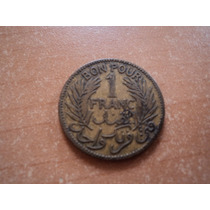 Moneda 1 Franco Tunez 1921