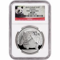 Moneda Plata Panda 2015 Ms 69 Certificada !!