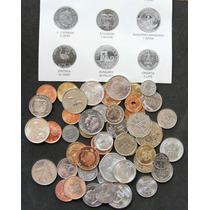 50 Monedas De 50 Paises Diferentes, Nuevas Con Identificador