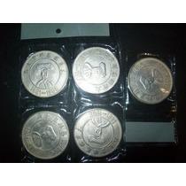 Gcg Lote De 5 Monedas Chinas Metal De La Suerte Didacticas