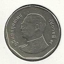 Moneda Tailandia 5 Baht (2012) Rey Rama Noveno