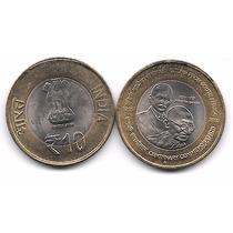 Moneda Mahatma Gandhi (2015) India 10 Rupias Bimetalica