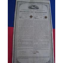 Bono Camino De Fierro De Veracrúz México, 1857, 100 Pesos.