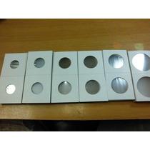 100 Cartones Para Monedas 6 Diferentes Medidas