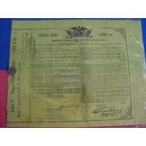 Bono Del Tesoro Nacional, Águila Juarista , 1863, 25 Pesos.
