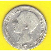 1 Peseta 1876 Plata Moneda Reino De España - Hm4