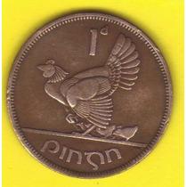 1 Penique 1941 Irlanda Moneda Gallina Con Pollitos - Hm4