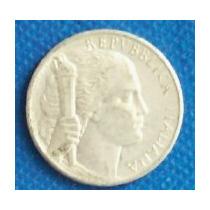 100 Liras 1949 Italia Moneda Mujer Con Antorcha - Hm4