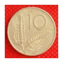 10 Liras 1954 Italia Moneda Arado Y Semillas De Trigo - Hm4
