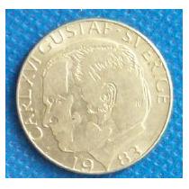 1 Corona 1983 Suecia Rey Carlos Gustavo Xvl - Hm4