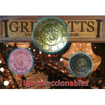Set De Monedas Gringotts Bank Galeon Harry Potter Igo Merenv