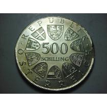 Austria 500 Schilling Fecha 1981 Plata Ley 0.640 Peso 23.7g