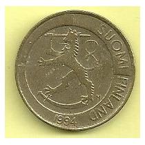 Moneda Finlandia 1 Marco (1994) Leon