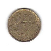 20 Francos 1950 Moneda Francia 4 Plumas Escasa Y Rara - Hm4