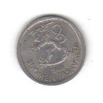 1 Marco 1975 Moneda Finlandia León Rampante - Hm4
