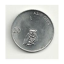 Moneda Eslovenia 20 Stotinov (1993) Buho