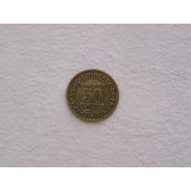 Se Vende Moneda Francesa De 50 Centimos De 1924