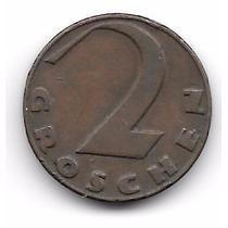 Austria 2 Groshen (1925) Moneda De Bronce