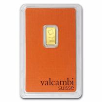 Valcambi, Suiza Barrita 1 Gramo Oro Puro .9999 En Certicard.
