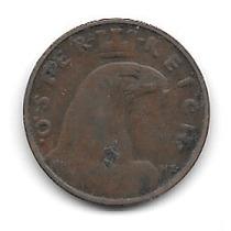 Austria 1 Groschen (1933) Moneda De Bronce Aguila Corona
