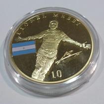 Super Ganga, Moneda De Messi O De Cr7 Con Acabado En Oro