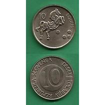 Grr-moneda De Eslovenia 10 Tolarjev 2000 - Caballo
