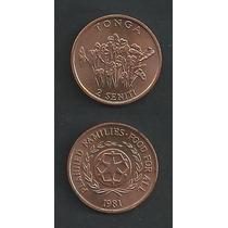 Grr-moneda De La Isla De Tonga 2 Seniti 1981 - F. A. O.