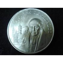 Capilla 5 Pesos Fecha 1953 Plata Ley 0.720 Bonita Condicion