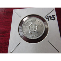 #475 Moneda Del Mundo Cuba 20 Centavos 1969 Aluminio