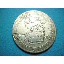 Reino Unido Un Chelin Fecha 1920 Plata Ley 0.500
