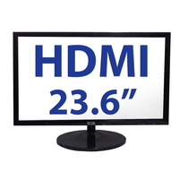 Monitor Led 24 Pulgadas Hdmi Vga Bocinas Integradas Slim